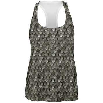 Halloween Steel Scale Armor Costume All Over Womens Work Out Tank Top