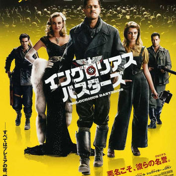 Inglourious Basterds (Japanese) 11x17 Movie Poster (2009)