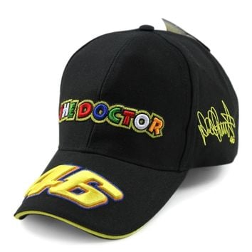 Rossi Motorcycle Racing Baseball Caps Rossi VR 46 Gorra The Doctor Dad Hat Bones Masculino 3D Embroidery MotoGP Casquette