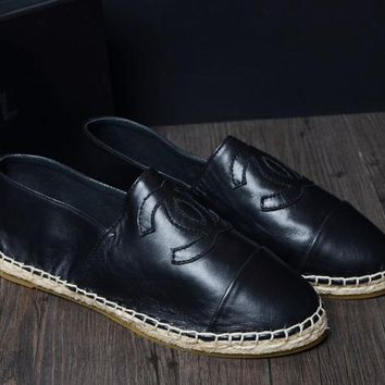 Chanel Women Fashion Leather Flats Shoes