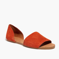 The Thea Sandal in Embossed Leather