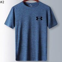 UA Under Armour 2018 new men's fitness running quick-drying short-sleeved T-shirt #2