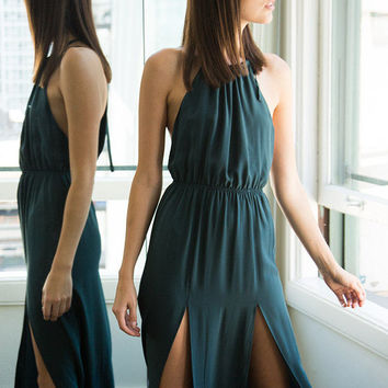 Stone Cold Fox Onyx gown in emerald