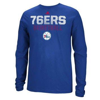 Philadelphia 76ers adidas Beta Rays Long Sleeve T-Shirt – Royal Blue