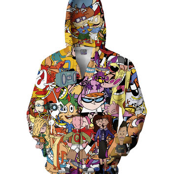 Totally 90s Zip-Up Hoodie