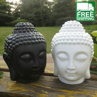 Ceramic Head Candle Lamp and Essential Oil Diffuser