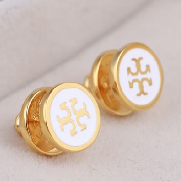 Tory Burch New fashion personality earring accessories White