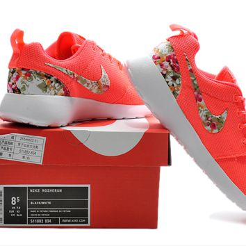 """NIKE"" Trending Fashion Casual Sports Shoes roses &red  Floral"