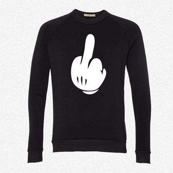 Middle Finger fleece crewneck sweatshirt