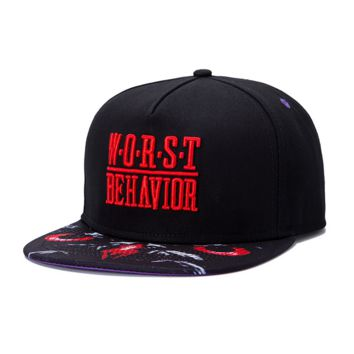 WORST BEHAVIOR Hip-hop Baseball Cap Hat
