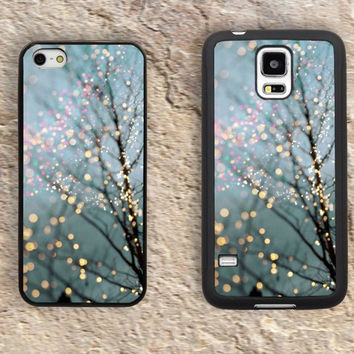 Fairy lights in trees iPhone Case-Purple iPhone 5/5S Case,iPhone 4/4S Case,iPhone 5c Cases,Iphone 6 case,iPhone 6 plus cases,Samsung Galaxy S3/S4/S5-086