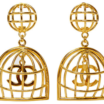 Chanel Collectible Dangle  Cage Earrings