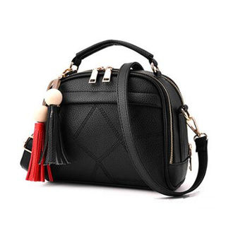 DIDA BEAR Women Small Leather Shoulder bags Girls Crossbody Messenger bag Lady Handbag and Purse Femme Sac A Epaule bolso Black