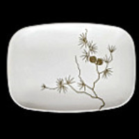 Brookpark Melmac Platter Modern Design Golden Pine Serving Tray