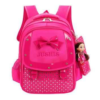 Toddler Backpack class 2017 Cute Preppy Style Nylon Baby Girls Kids Bowknot Heart Dot Backpack Toddler School Bag 3Pcs Set  A2000 AT_50_3