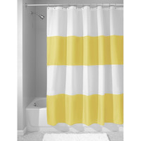 "Nelly's Trendy Striped Waterproof Fabric Shower Curtain 72"" x 72"""