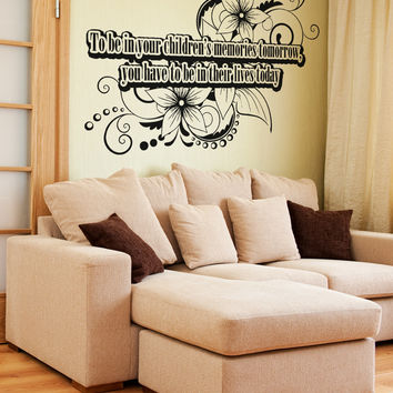 Vinyl Wall Decal Sticker Children Memories Quote #OS_AA1535