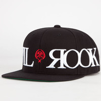 Civil X Rook All Around Snapback Hat Black One Size For Men 24219910001