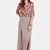 Landslide Double Slit Maxi Skirt