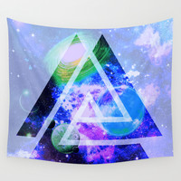 The purple space Wall Tapestry by Haroulita