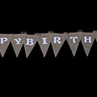 Langxun Happy Birthday Burlap Banner | Birthday party Decorations Streamers