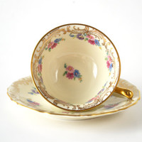1940s Thomas Ivory Tea or Demitasse Cup and Saucer