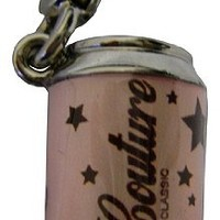 Juicy Couture Can of Couture Silver Pink Charm