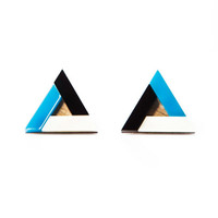 Pyramid earrings - Blue
