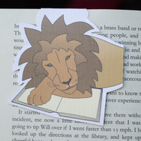 Magnetic bookmark of Rory the Lion! Book accessories, Unique bookmark, School supplies, Book gift, Animal collectibles, BOOK FARM ANIMALS