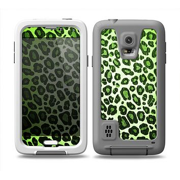 The Vibrant Green Leopard Print Skin for the Samsung Galaxy S5 frē LifeProof Case