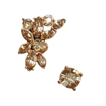 Oscar de la Renta Navette Crystal Ear Cuff and Stud Set - Shop Luxury Jewelry | Editorialist