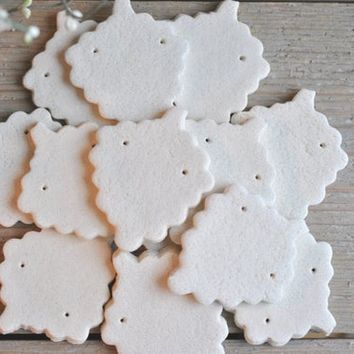 Unfinished DIY Salt Dough Grapes Ornaments Set of 10