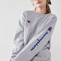 Champion Fashion Embroidery Long Sleeve Cotton Top Sweater Pullover