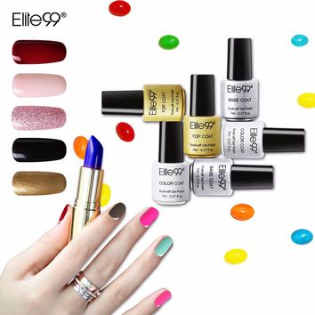 Elite99 Soak Off UV Gel Lacquer 7ml Fresh Colorful Nail Gel Polish Need Lamp Primer Long Lasting Led Gel For Nail Extensions