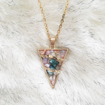 A Gem Garden Pendant Necklace in Multi