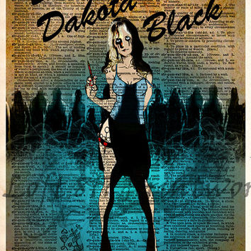 Planet Terror pop art - Dr. Dakota Black - Dictionary page art