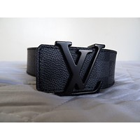 MENS LOUIS VUITTON GRAPHITE DAMIER BELT EXCELLENT CONDITION 90/36 FOR 32 WAIST Tagre™