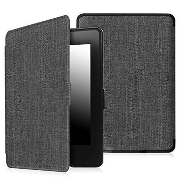 Fintie Case for Kindle Paperwhite - The Thinnest and Lightest Premium Fabric Cover Auto Sleep/Wake for All-New Amazon Kindle Paperwhite (Fits All 2012, 2013, 2015 and 2016 Versions), Charcoal Fabric