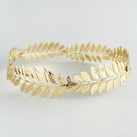 Aspasia Gold Leaf Crown