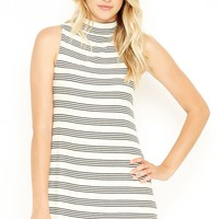 Easy Does It Ribbed Stripe Swing Dress