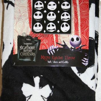 Licensed cool NEW Nightmare Before Christmas THROW Blanket JACK Faces Suits Disney Tim Burton