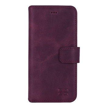 Pre-Order iPhone 7 Wallet Case, iPhone 7 / 7 Plus Leather Wallet Case with Magnetic Closure, Perfect for 3+ Cards and Cash in AnticPurple