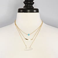 it all goes down necklace - clear