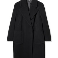 Textured Melton Car Coat by Boutique - Black