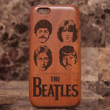The Beatles iPhone 6 Case, iPhone 6 Case, John Lennon wooden iPhone 5/5s case wood iphone case, mahogany case, cherry wood walnut wood