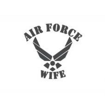 Air Force Wife Die-Cut Decal Sticker Car Window Wall Bumper Phone Laptop