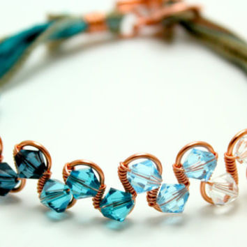Copper and Ombré Crystal Bracelet - Ombré Collection