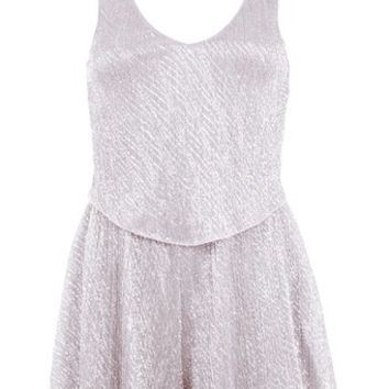 Petites Blush Overlay Playsuit - Apparel - New In