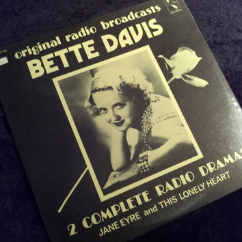Vintage Bette Davis Vinyl Record Album Factory Sealed Radio Dramas Jane Eyre and this Lonely Heart