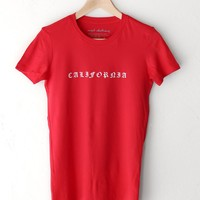 California Tee - Red